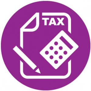 tax icon purple